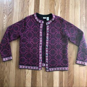 Vintage LL Bean women's button up sweater